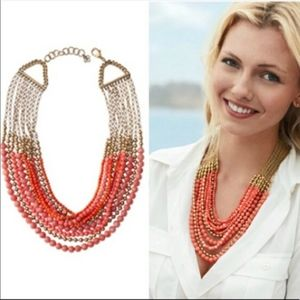 Stella and Dot coral necklace